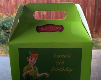 Peter Pan personalized Birthday Favor Box