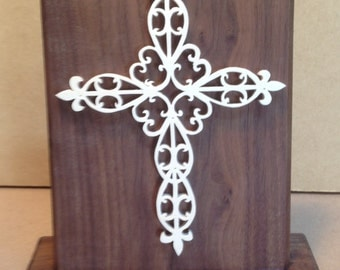 Stand up cross plaque