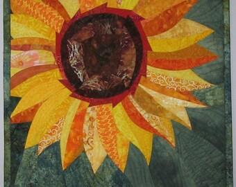 Art Quilt Sunflower 3