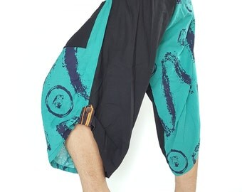 HC0087 Samurai Pants  - elastic waistband Fits all!  Unisex pants These beautiful casual pants is unique & comfortable to wear