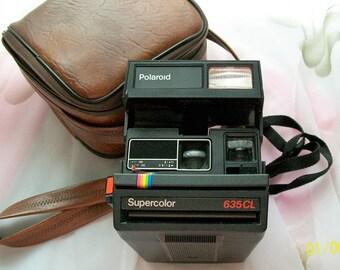 Retro Polaroid, super color 635CL ,instant camera,Polaroid camera,cameras,carry case,camera case,Polaroid instant,collectables,
