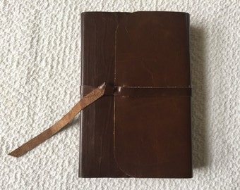 NIV Giant Print Reference Bible  Leather Cover Recovered cowhide leather flap with strap