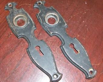 Vintage Door Knob Back Plates Hardware