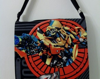 Transformer's Toddler Size Bumblebee Inspired Messenger, Cross Body Bag