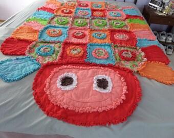 Child's Caterpillar Rag Quilt