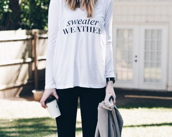 Sweater Weather Long Sleave t-shirt