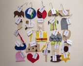 25 felt Jesse Tree ornaments with hooks and tags - accompanies 'Unwrapping the Greatest Gift' (Ann Voskamp)