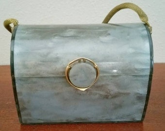 Wilardy Lucite Purse with Mesh Handle