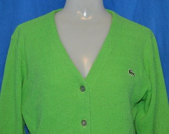 Lime green cardigan | Etsy