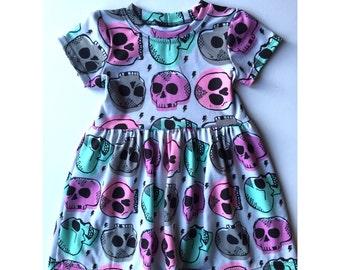 Neon skull dress