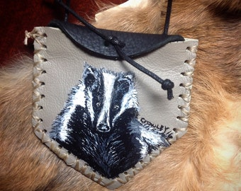 Badger Totem Spirit/ Crystal/Medicine Bag