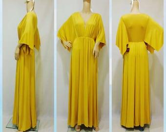 Fantastic Deep V-neck Maxi Dress/M1009/Irene M