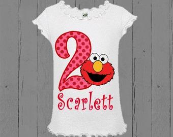 Girls Elmo Birthday Shirt