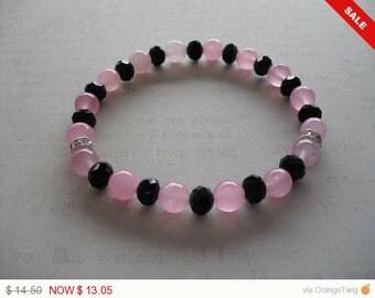 Beautiful rose quartz bracelet