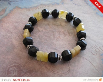 Honey yellow jade zen bracelet