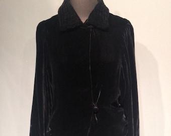 30s Silk Velvet Jacket
