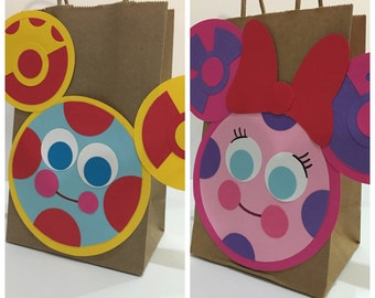 Mickey mouse party, mickey mouse clubhouse bags, mickey mouse toodles party bags, mickey mouse Quoodles party bags