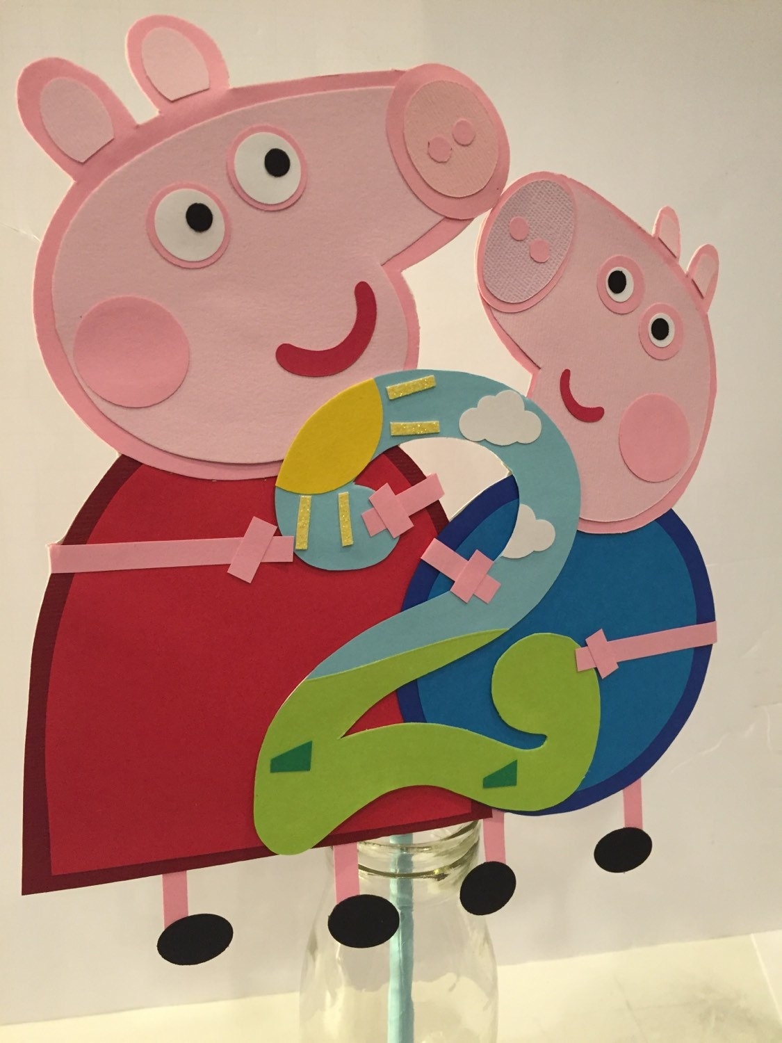 Peppa pig party decorations Peppa pig cake topper George