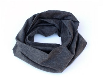 Kids infinity scarf, toddler scarf, baby scarf, heather gray scarf, boys scarf, girls scarf, kids scarf, boys infinity scarf
