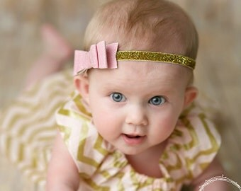 Pink hair bow, pink glitter bow, bow headband, baby headband, pink bow headband, Hair bows, Hair clips, bow clip, pink bow clip, baby bow