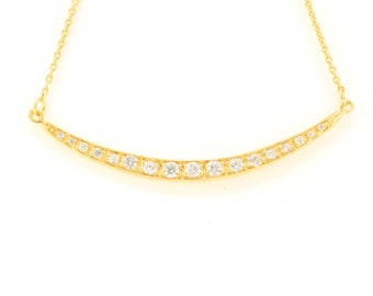 Smile Necklace 14k gold vermeil
