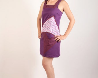 Purple cotton dress Texsanne