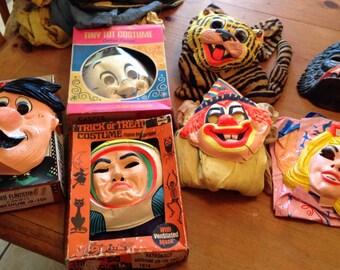 Vintage halloween mask lot