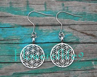 Flower of life earrings - Stainless Steel