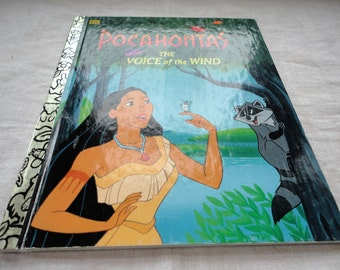 Disney's Pocahontas The Voice Of The Wind A Little Golden Book Children's Book Vintage Disney
