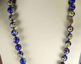 Beautiful Blue  12mm Cloisonne Necklace