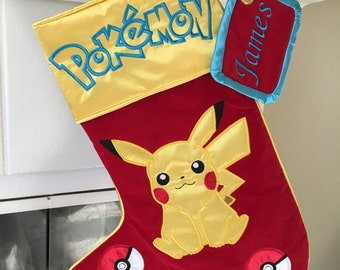 "Pokemon ""Pikachu"" Christmas Stocking"