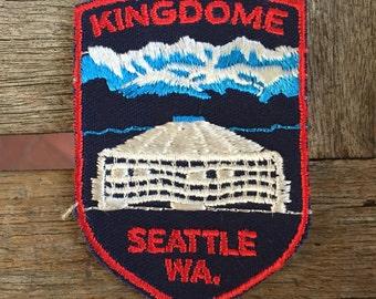 Kingdome Seattle Washington Vintage Travel Patch by Voyager
