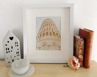 Leaning tower of Pisa / travel photography / architecture / Italy / home decor / wall art / fine art photography / wanderlust / travel