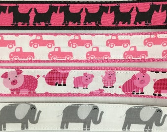 Animals and Vehicles Cotton Wristlet Key Fob, Key Ring, Key Chain - Choose Design