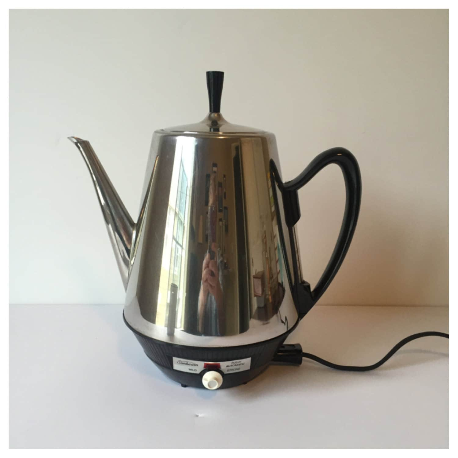 Vintage Sunbeam Electric Coffee Pot Chrome Percolator Coffee