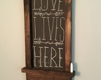 Rustic Magnetic Key Holder with Chalkboard