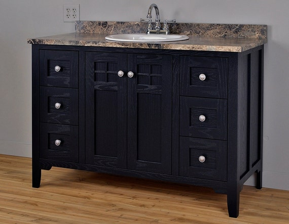 Items Similar To Mission Style Bathroom Vanity Cabinet Cabinet Only On Etsy