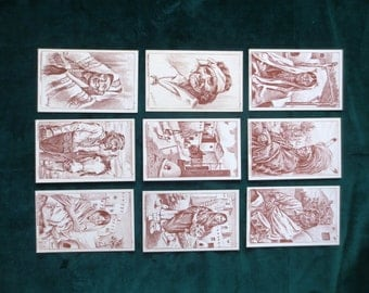 NEW PRICE 9 E H Bischoff Native American Indian Postcards 1940's