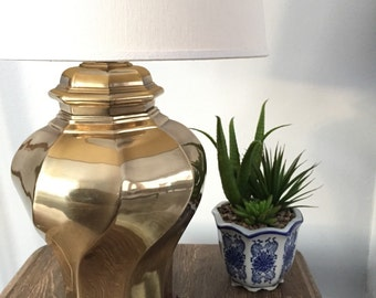 Vintage Solid Brass Table Lamp