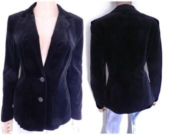 Vintage 70's black velvet jacket u.k. 10 – 12 SM