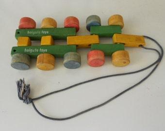 Vintage Wooden Holgate Pull Toy