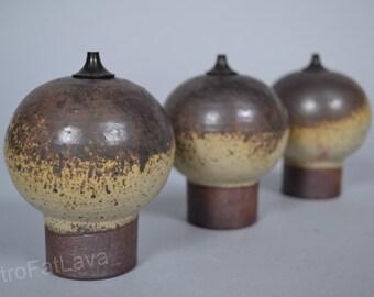Set of 3 stylish  keramik oillamps  by  Würtz - Denmark