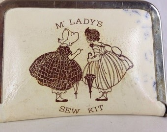 Vintage Sewing Kit / Travel Sewing Kit / Sewing Kit Purse / Mini Sewing Kit / M' Lady's Sew Kit / Coin Purse Mending Kit