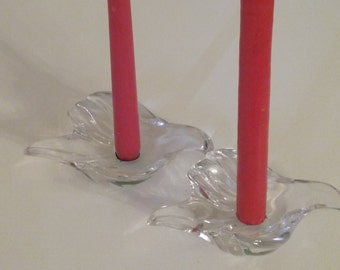 Dove candle holders