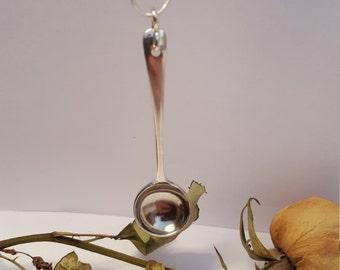 Sterling silver vintage spoon pendant
