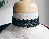Thick Black Lace Choker Necklace | Lace Necklace