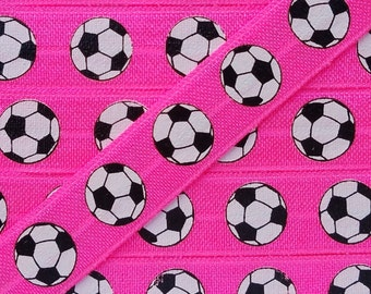 5/8 PASSION FRUIT with Soccer Ball Fold Over Elastic