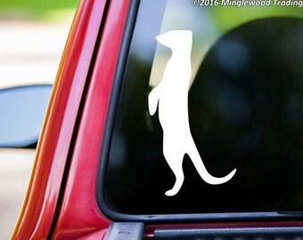 """Meerkat vinyl decal sticker 5"""" x 2.5"""" Suricate Mongoose *Free Shipping*"""