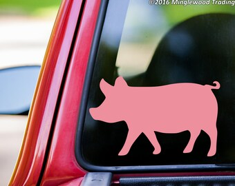 "Pig vinyl decal sticker 5"" x 3"" Piglet Hog Sow   *Free Shipping*"
