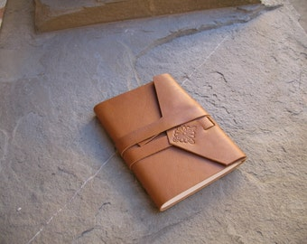 Leather index book address book 21 x 14.5 cm leather journal